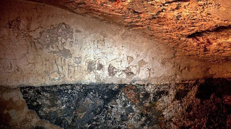 Algumas das inscrições encontradas pelos arqueólogos no banho ritual em Jerusalém