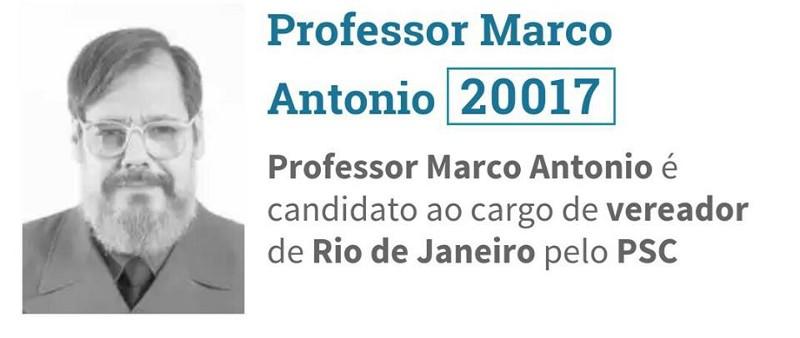 Professor Marco Antônio lançou candidatura pelo partido de Bolsonaro e Feliciano