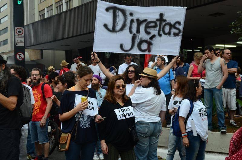 Manifestação contra o governo de Michel Temer na avenida Paulista