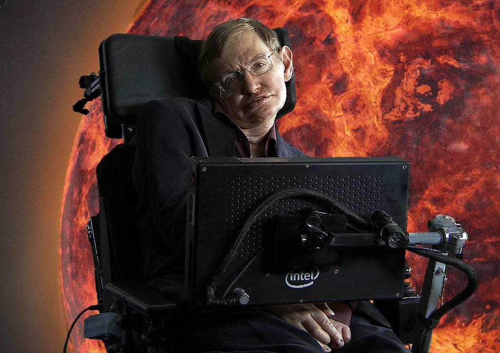 O físico teórico Stephen Hawking - provavelmente, o maior de nosso tempo.