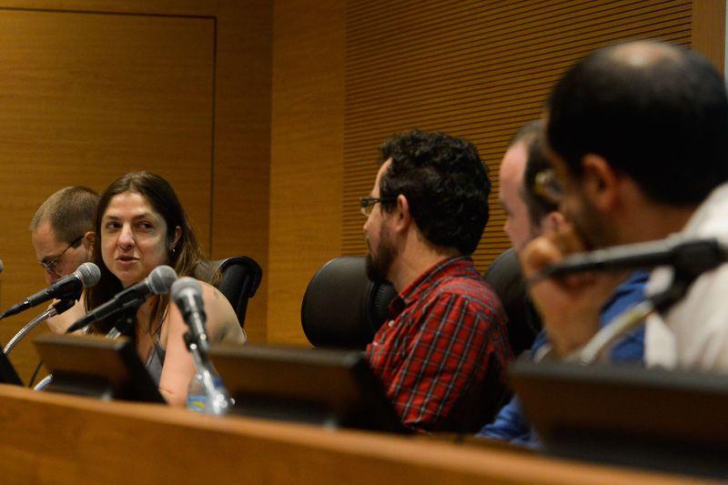 A médica integrante do projeto Consultório na Rua, Valeska Holst durante seminário Crack e exclusão social, na Fiocruz, em Manguinhos