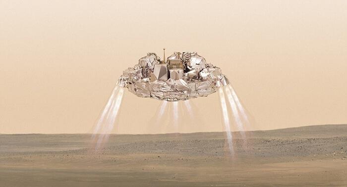 A sonda Schiaparelli, da ESA / Roscosmos