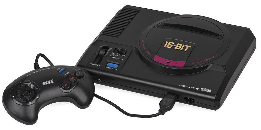 O primeiro design da Sega Mega Drive