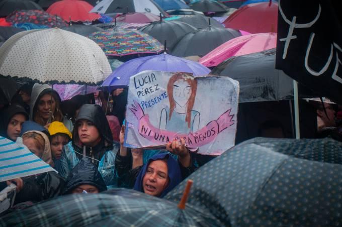 Protesto em Buenos Aires, na Argentina, contra a violência machista