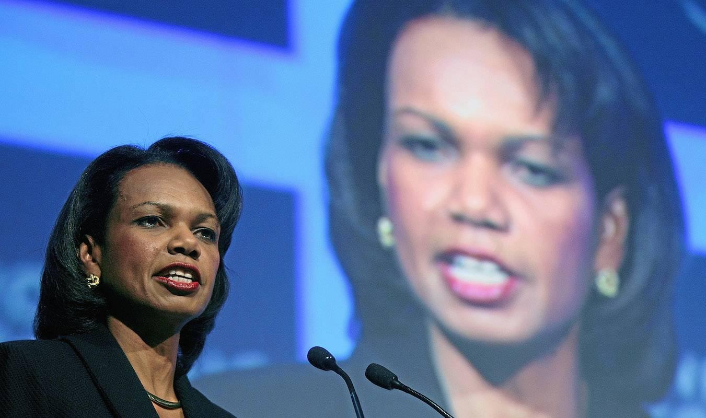 A ex-secretária de Estado dos EUA, Condoleezza Rice