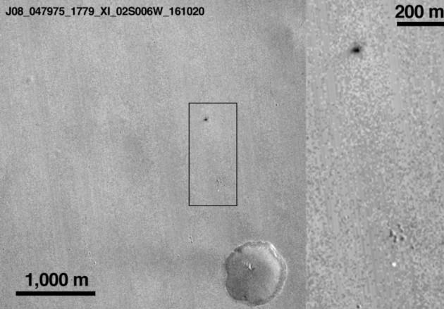 Localização dos restos da sonda Schiaparelli em Marte