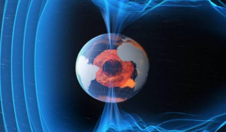 Os campos magnéticos da Terra geram forças complexas em do planeta