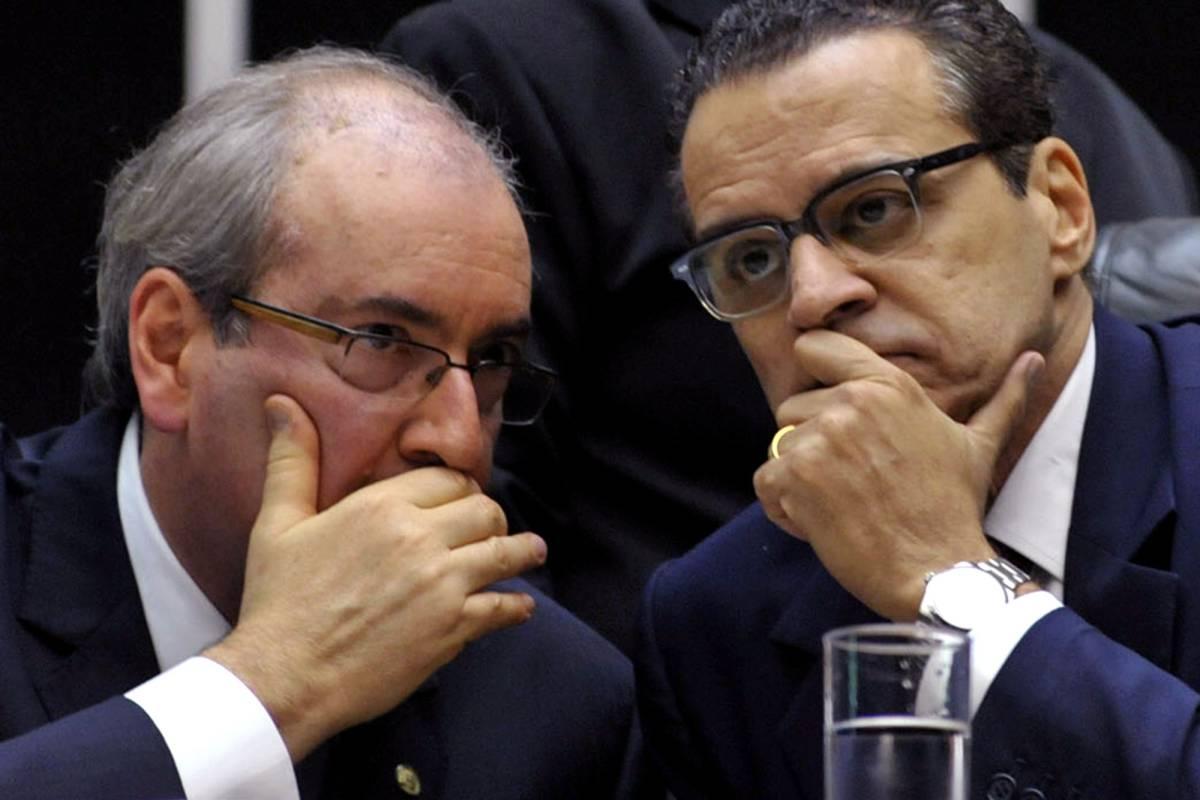 Os deputados Eduardo Cunha (PMDB-RJ) e Henrique Eduardo Alves (PMDB-RN)