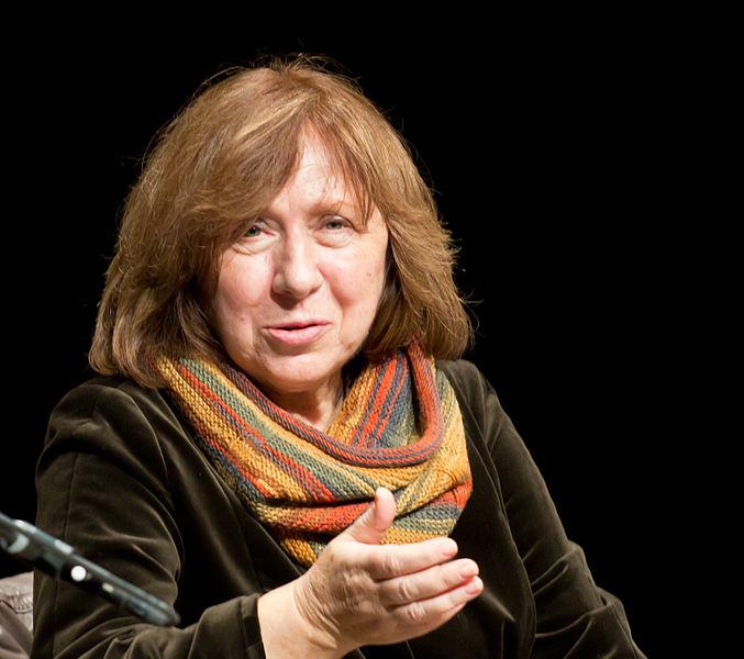 A jornalista bielorrusa Svetlana Alexievich, Nobel da Literatura 2015