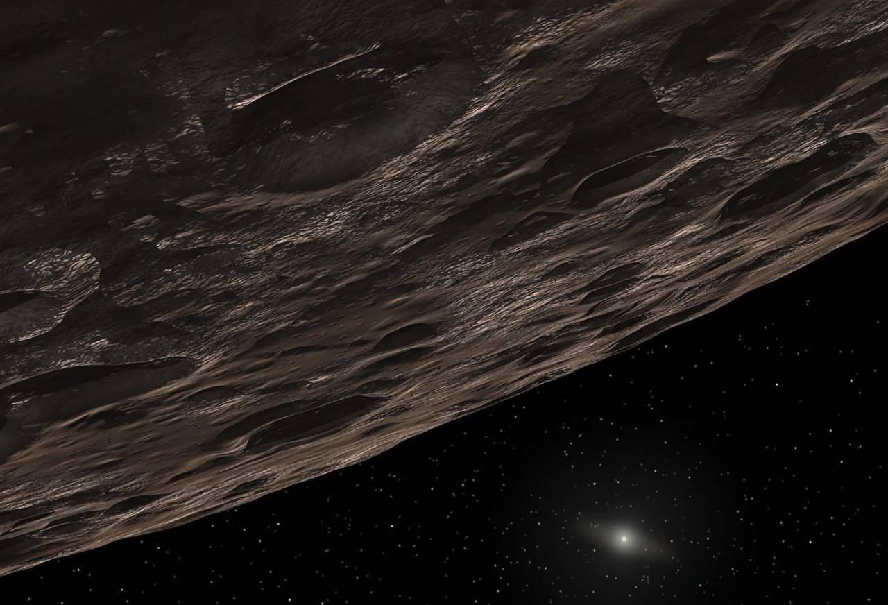 Conceito artístico do 2014 UZ224, o novo planeta anão de nosso sistema solar