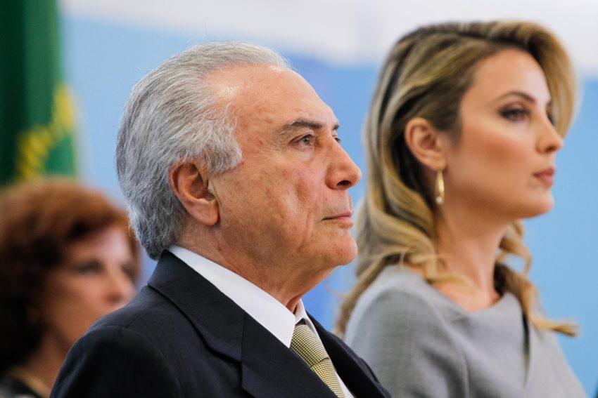 Presidente Michel Temer e a Primeira-dama, Marcela Temer