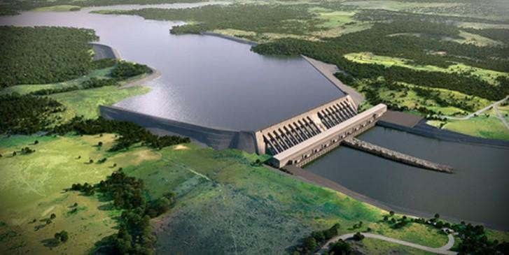 Maquete da barragem de Belo Monte