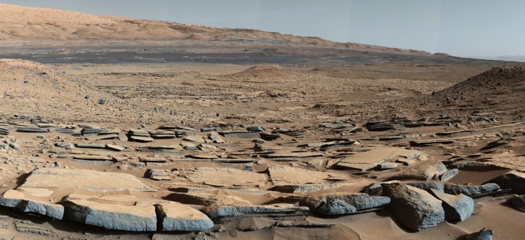 Solo marciano captado pelo rover Curiosity