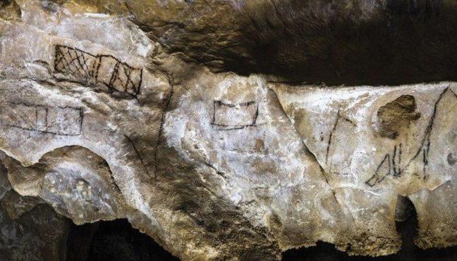 À primeira vista, os rabiscos parecem traços sem importância, como estes das cavernas espanholas conhecidas como Las Chimeneas, que são Patrimônio da Humanidade