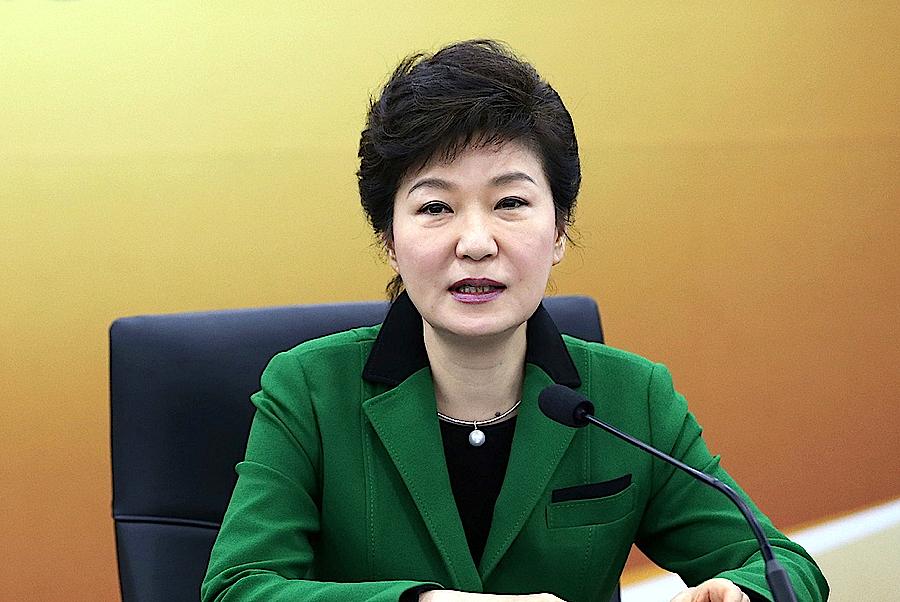 A presidente da Coreia do Sul,  Park Geun-hye