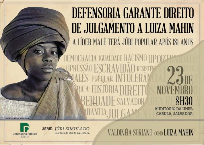Luiza Mahin na série Júri Simulado – releitura do Direito na História