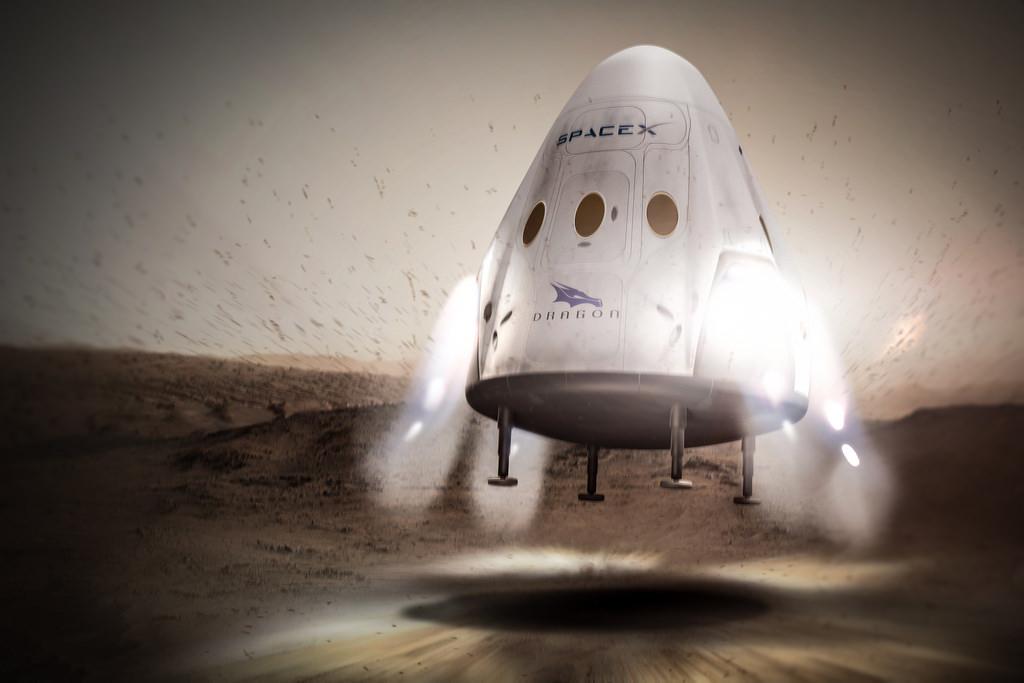A Cápsula Dragon, da SpaceX, vai ser enviada para Marte