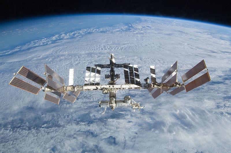 A ISS, Estação Espacial Internacional, em órbita