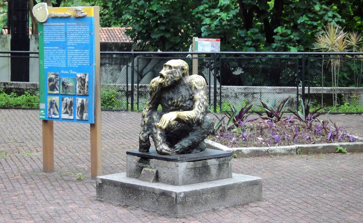Estátua do Macaco Tião no Jardim Zoológico do Rio de Janeiro