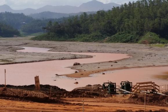 Mariana/MG - Barragem de Santarém também foi atingida pela lama