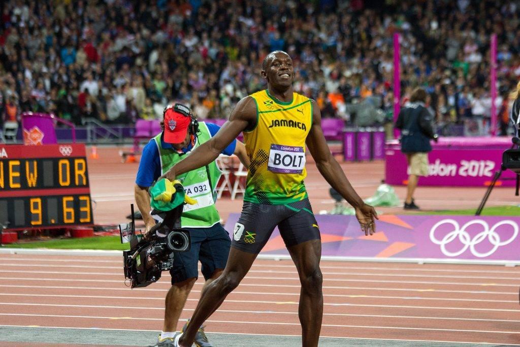 O velocista jamaicano Usain Bolt