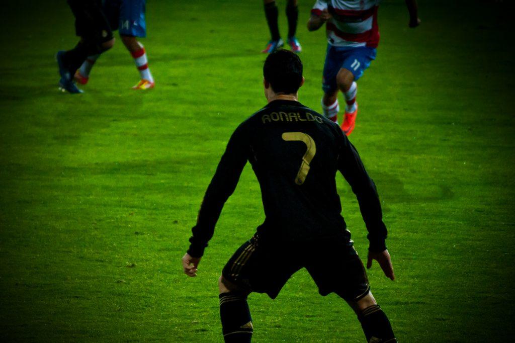 Cristiano Ronaldo em jogo da selecção nacional de futebol