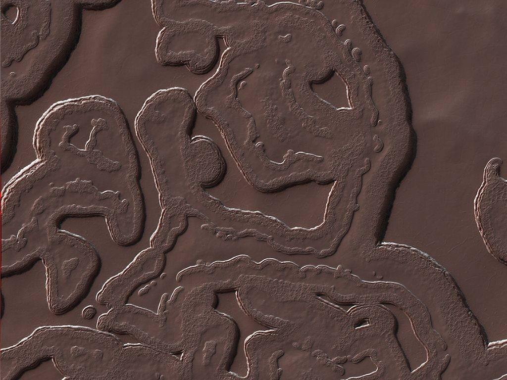 O lugar mais frio de Marte, no polo sul do Planeta Vermelho