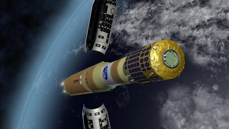 Módulo japonês Kounotori 6 separa-se dos foguetes propulsores