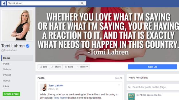 Em sua página do Facebook, Lahren afirma que, gostando ou não do que ela fala, o leitor está reagindo, e é isso que os EUA precisam
