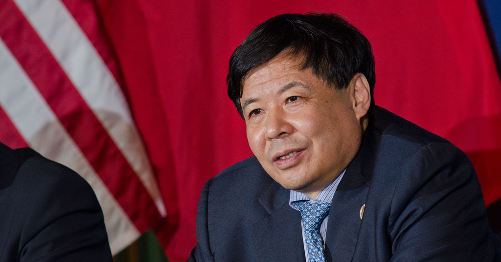 O vice-ministro das Finanças da China, Zhu Guangyao