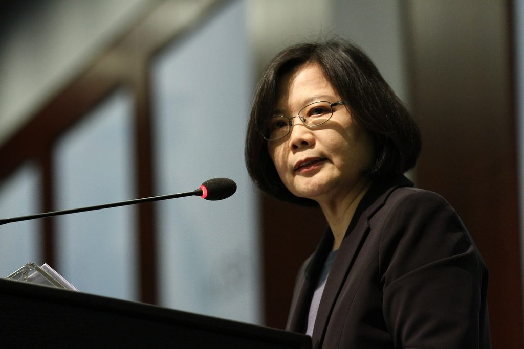 A presidente de Taiwan, Tsai Ing-wen