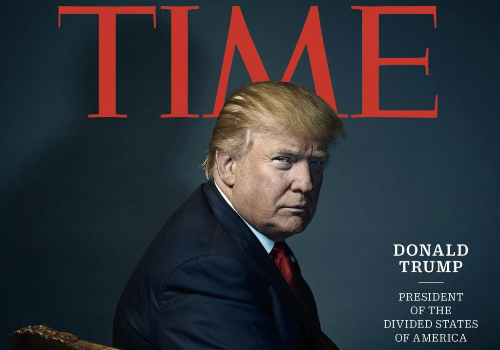 """Donald Trump, """"Person of the Year 2016"""" para a revista Time"""
