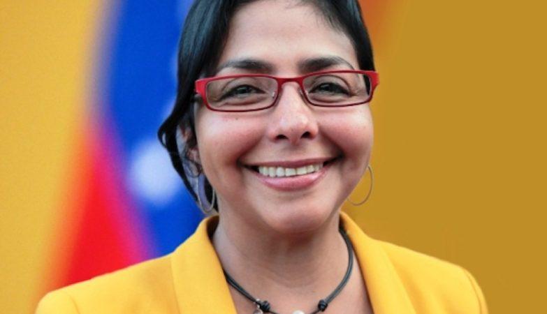 A chanceler da Venezuela, Delcy Rodríguez
