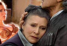 Carrie Fisher, a Princesa Leia (1983, 2015)