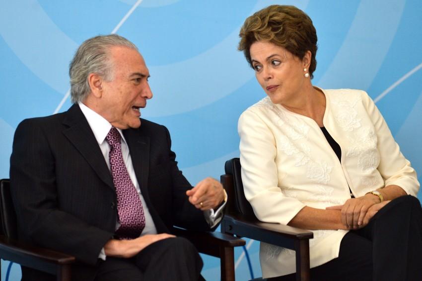 O ex-vice-presidente Michel Temer e a ex-presidente Dilma Rousseff