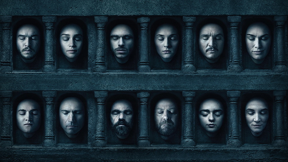 Cartaz da sexta temporada da série Game of Thrones