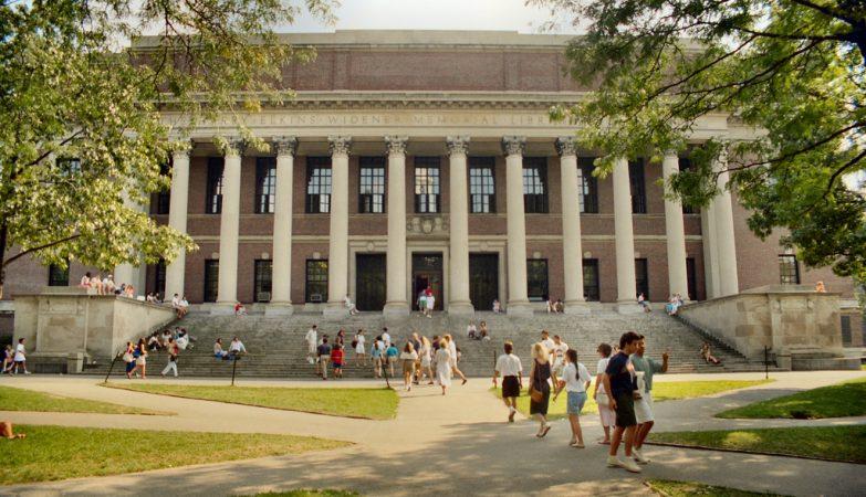 Biblioteca Widener, na Universidade de Harvard / Massachusetts