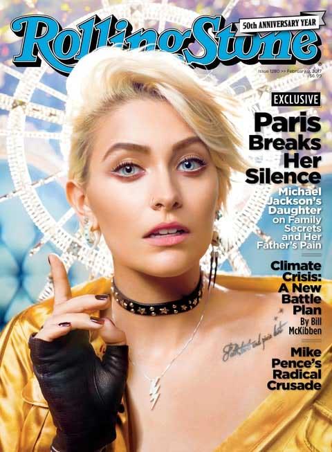 Paris Jackson na capa da Rolling Stone
