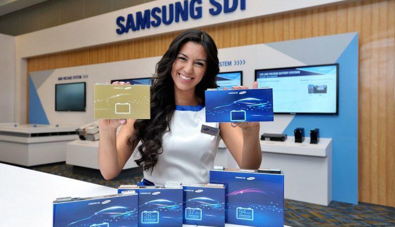 Novas baterias auto da Samsung