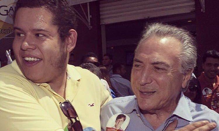 Bruno Júlio (esq.) com Michel Temer