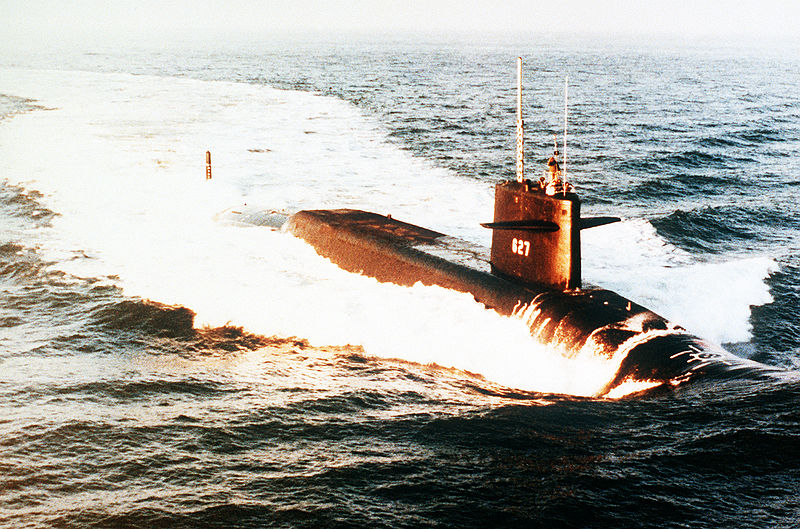 O submarino nuclear norte-americano USS James Madison
