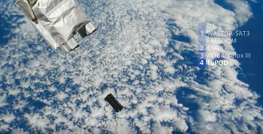 Lançamento do Tancredo-1 a partir da Estação Espacial Internacional