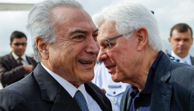 Moreira Franco (dir.) com o presidente Michel Temer