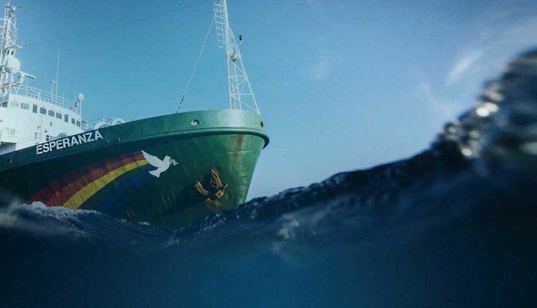 O navio Esperanza, da Greenpeace