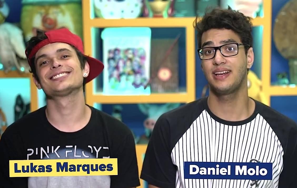 Os youtubers Lukas Marques e Daniel Molo, do canal Você Sabia