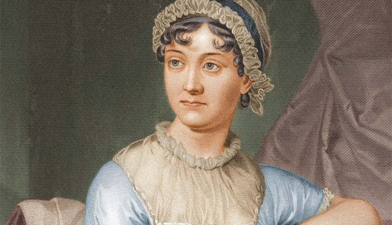 Retrato pintado da escritora inglesa Jane Austen