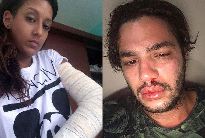 Mariana Reis e Rafael Lundgren foram agredidos por motorista da Uber