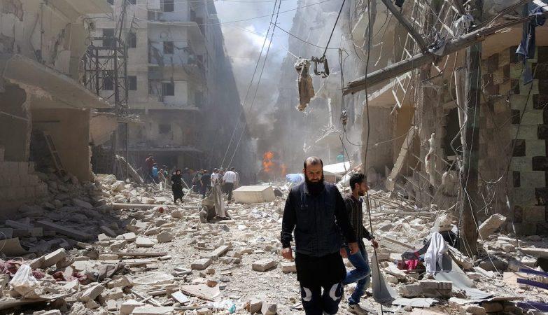 Bombardeio em Aleppo, Síria