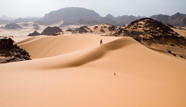 Deserto do Saara na Líbia