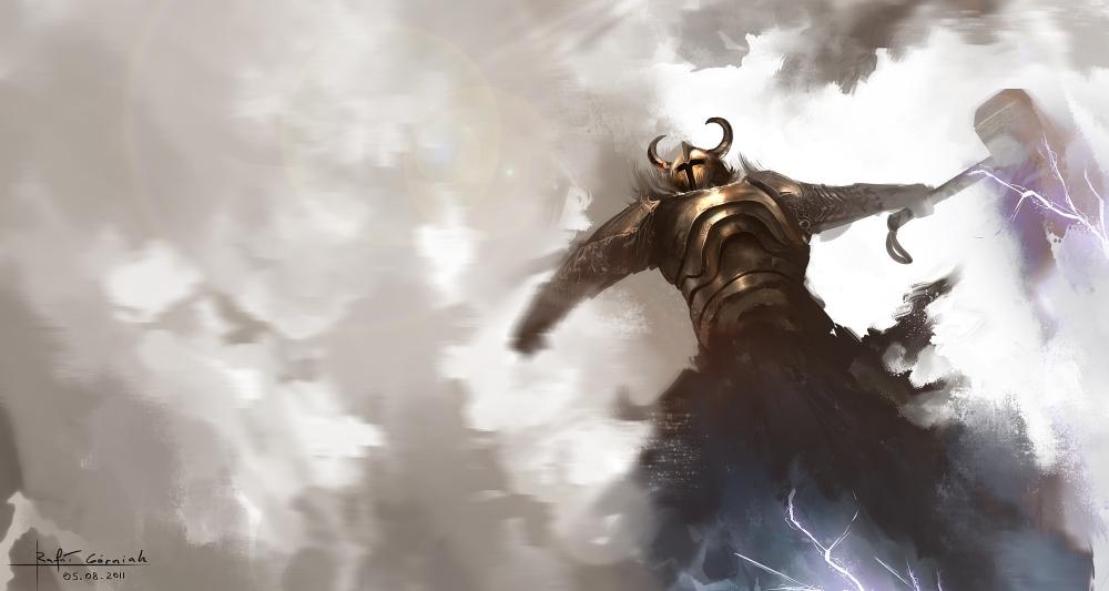 Thor, o Deus do Martelo da mitologia nórdica